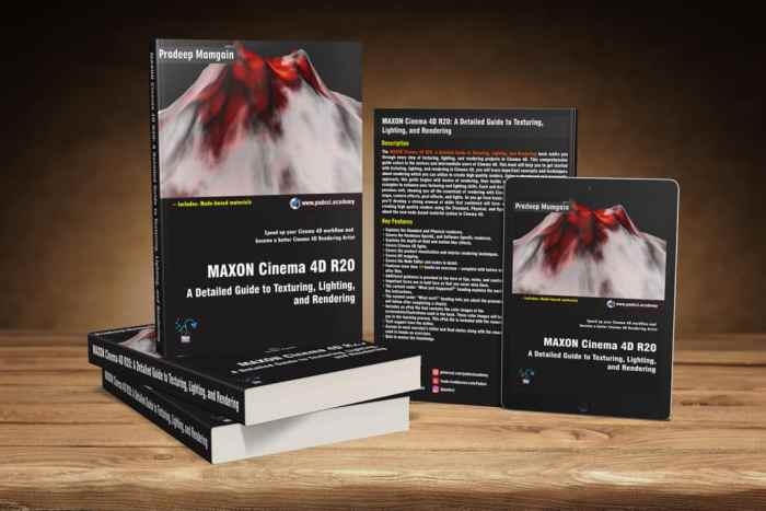 Cinema 4D Book - MAXON Cinema 4D R20: A Detailed Guide to Texturing, Lighting, and Rendering