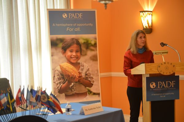 PADF Executive Director Katie Taylor speaks about the successful partnership between PADF and Taiwan to build disaster resilience in Latin America and the Caribbean.