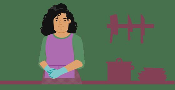 trabajadora cocina