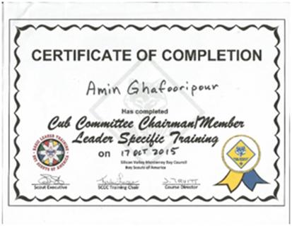International & National Certification/Training