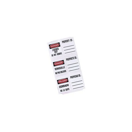 Master Lock S140 Padlock Labels for 410 and 406 Safety