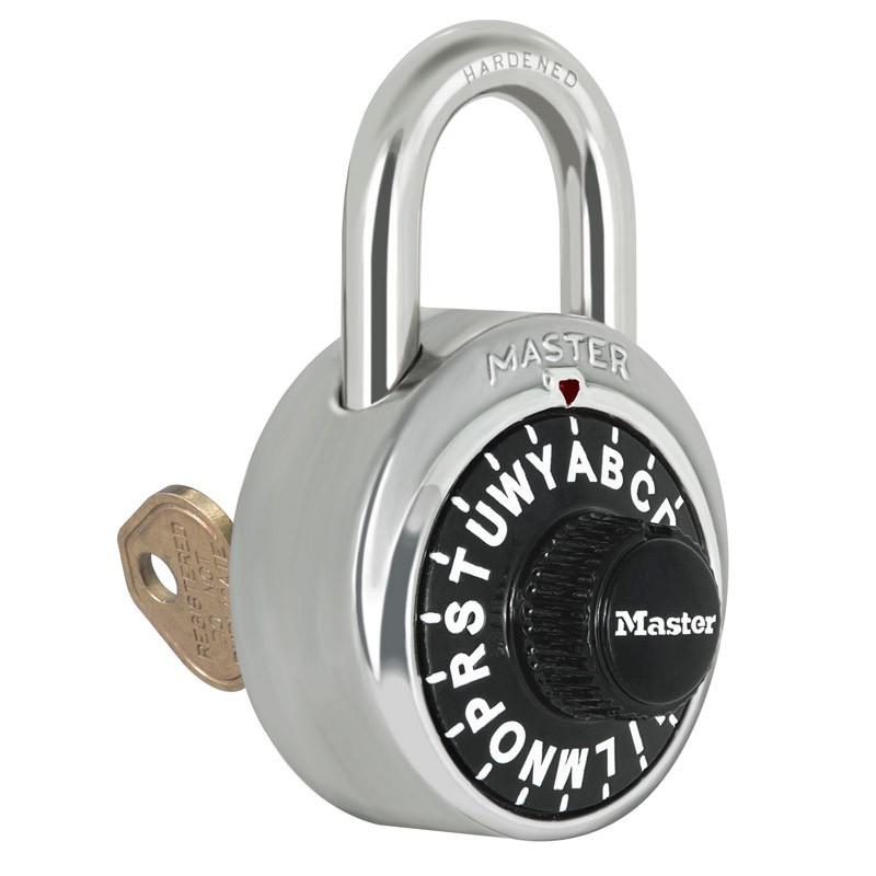 Master Lock 1585 Letter Lock Combination Padlock with Key