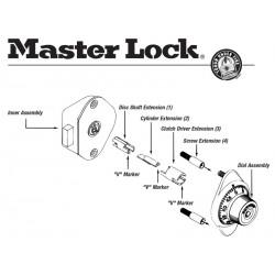 Master Lock 1654-0320 Built-in Combination Lock Extension Kit