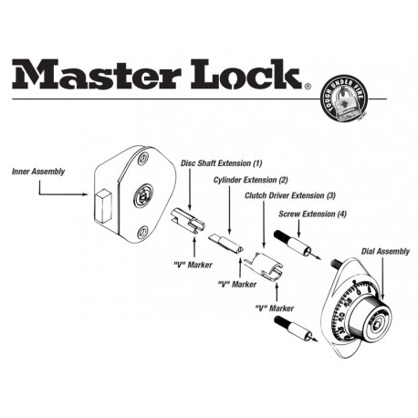 Master Lock 1654-0320 Locker Lock Extension Kit