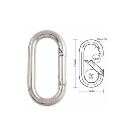 A541 Tough Links Oval Interlocking Carabiner Snaps