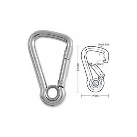 Tough Links Stainless Carabiner Snaps, with Eyelet