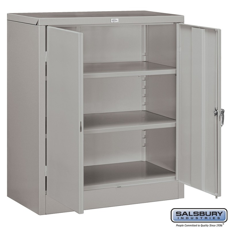 Salsbury Storage Cabinet  Counter Height  42 Inches High  18 Inches Deep