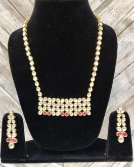 baby girl necklace in kundan
