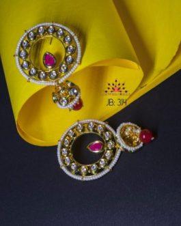 kundan earrings with jhumki