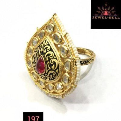 kundan premium ring