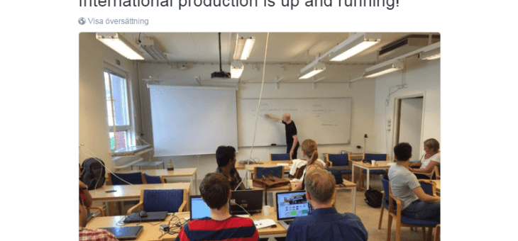 International production – A Production2030 graduate course