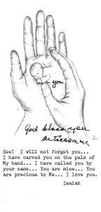 Recuerdo con el autógrafo de Madre Teresa