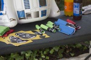 Detalle servilletas Star Wars para cumpleaños