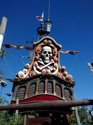 Barco pirata en Disneyland París