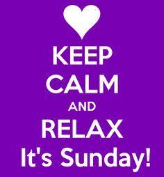 Keep Calm It's Sunday