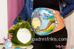 belly painting totoro