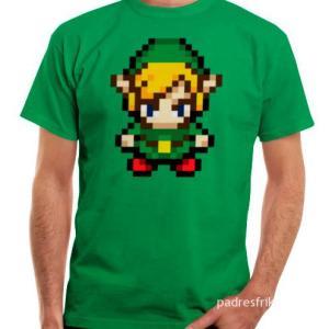 camiseta Link Zelda Pixel 8 bits