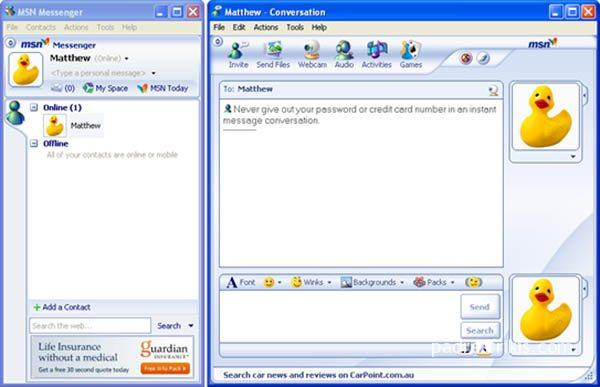 msn messenger 1999