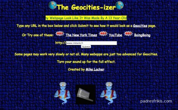 Página web años 90