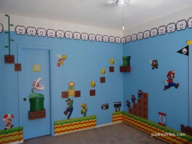 Habitación estilo Super Mario