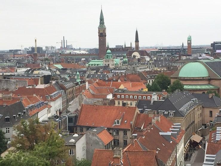 Copenhague visto desde lo alto de la Torre Redonda