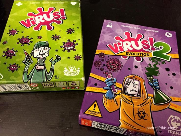 Virus juego de cartas de Tranjis