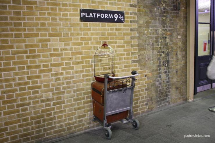 Harry Potter andén 9 y 3/4 en Londres