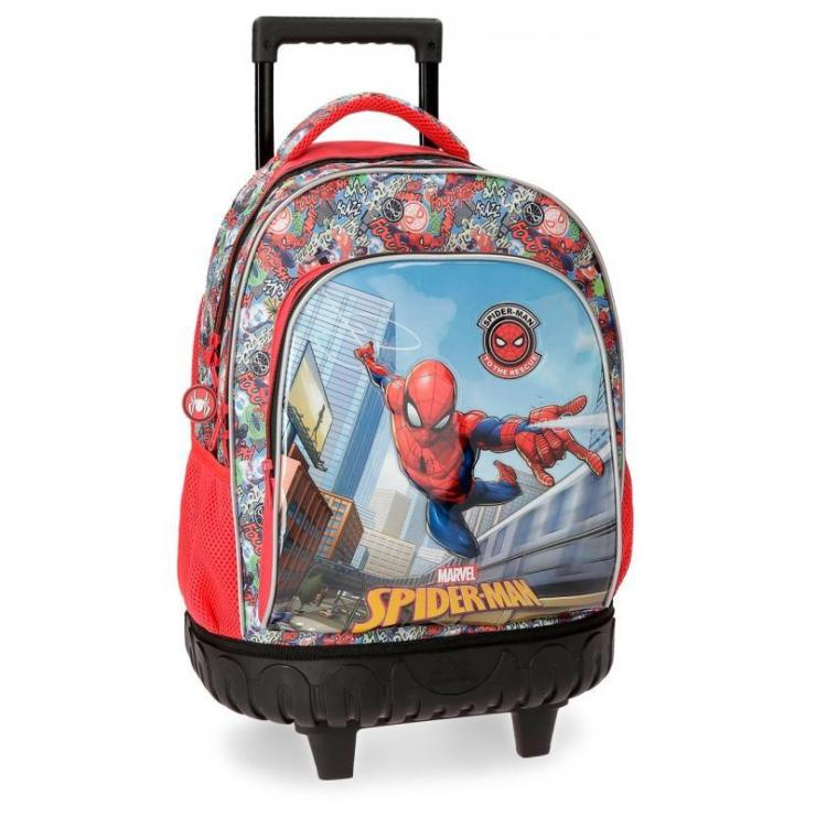 Mochila escolar Spiderman Grafiti 43x32x21cm