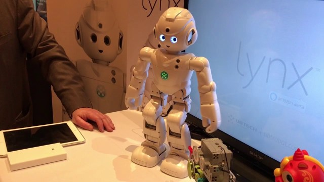 Photo of the UBTech robot, Lynx,, at an electronics expo