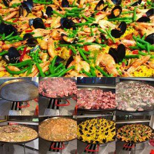Paella Catering Zubereitung