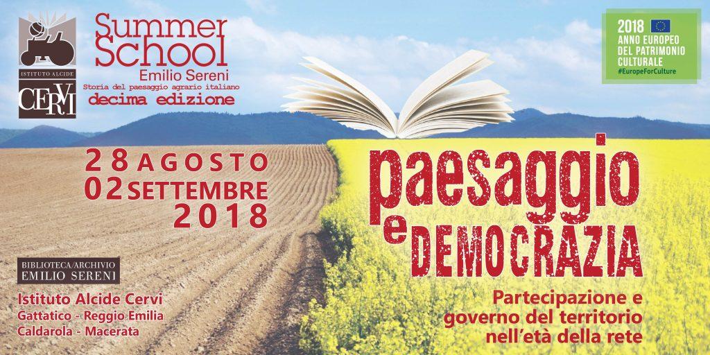 Paesaggio e democrazia  Summer School Emilio Sereni  Paesaggi della memoria