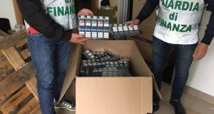 Acerra – Sigarette di contrabbando: 5 persone arrestate. Sequestrato un capannone e oltre 500 chili di sigarette