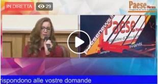 Il Sindaco di Alife Maria Luisa Di Tommaso parla dell'attività amministrativa  diretta video