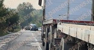 Alvignano / Caiazzo – Scontro sulla provinciale, feriti incastrati nelle lamiere. Traffico bloccato