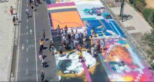 """Napoli – Progetto """"Art&more"""", realizzata una coloratissima opera sul Lungomare partenopeo"""