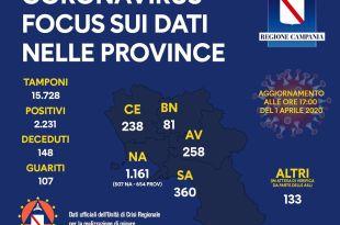 mappa regione e contagi per provincia