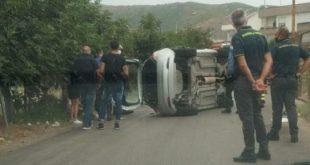 San Prisco – Incidente in viale Europa, strada bloccata