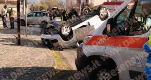 Sant'Angelo d'Alife / Pietravairano – Scontro sulla provinciale, due vetture coinvolte: due feriti
