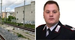 PIANA DI MONTEVERNA / CAIAZZO / BELLONA – Brigadiere travolto dal treno, il gip ha deciso: sua morte non imputabile al ladro