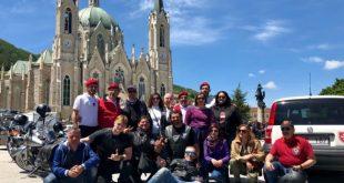 CASTELPETROSO – Basilica dell'Addolorata, i Sanniti Riders presenti al motoraduno