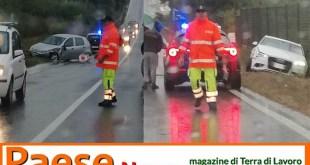 Teano / Riardo – Scontro sulla Casilina, tre veicoli coinvolti