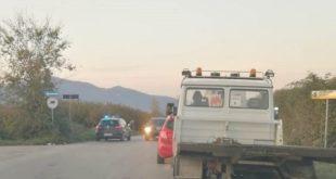 Vairano Patenora – Camion contro auto, scontro lungo via Patenara