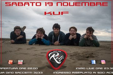 Riff Club: i Kuf in concerto