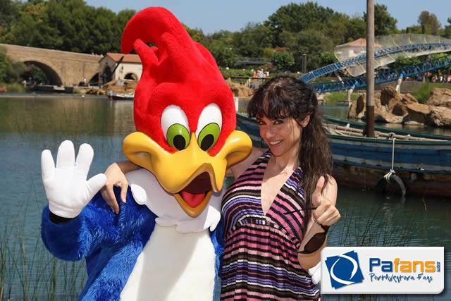 Beatriz Rico visita PortAventura  Pafanscom
