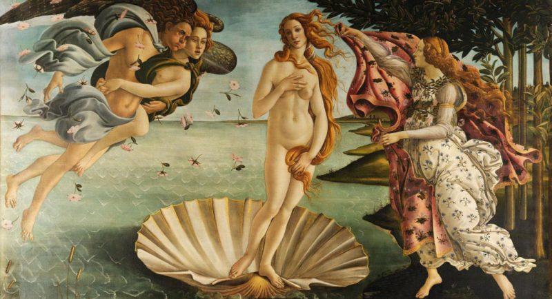 Η γέννηση της Αφροδίτης, το αξεπέραστο έργο του Σάντρο Μποτιτσέλι (1486). Φωτο: Wikipedia