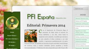 Boletin miembros PFI España Primavera 2014