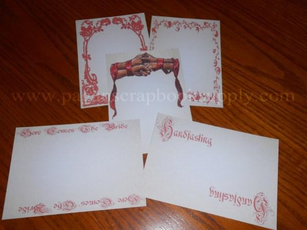 HandfastingWedding Cardstock 4 12 x 6 12 Inches