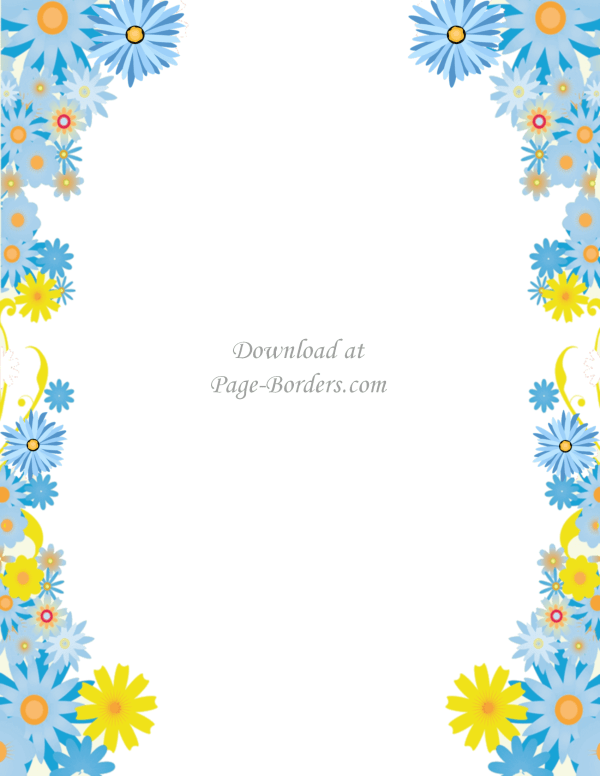Free Flower Border Template Personal & Commercial