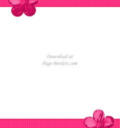 pink flower border [ 1700 x 2200 Pixel ]