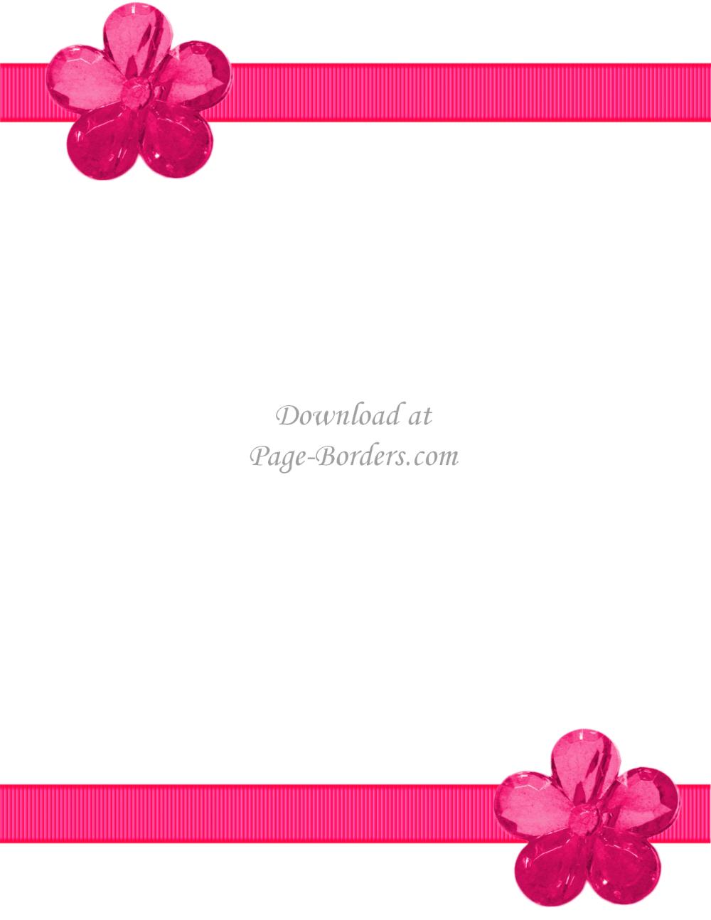 medium resolution of pink flower border